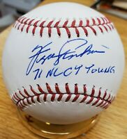 "Autographed FERGIE JENKINS ""71 NL CY Young"" Official Major League Baseball COA"