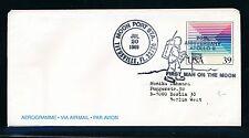 02389) Raketen space Weltraum Aerogramme USA 1989, Apollo moon...