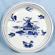 P M Bavaria Childs Dish Bowl Dutch Windmill Girls Dancing Rooster Hen Butterfly