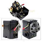 Four Port Air Compressor Pressure Switch Control Valve 145-175 PSI w/ Unloader