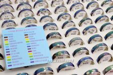 Wholesale Jewelry Lots 50pcs Stainless steel Change color mood rings Free