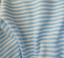 "Dress making fabric sample 12"" square Vintage material blue stripes Courtelle"