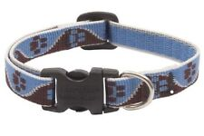 "Lupine Dog Collar 1/2"" MUDDY PAWS 10""-16"" New Blue Brown Cream Paw Prints USA"
