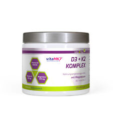 Vita2You Vitamin D3 + K2 Komplex Pulver mit Magnesium - 200g - Premium Qualität