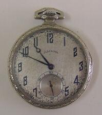 Vintage Illinois Pocket Watch, 17j, 12s In Very Nice White GF 25 Year Case, Runs