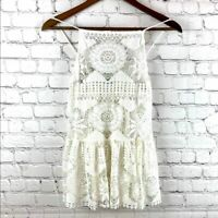Urban Outfitters Ecote Women's White Lace Sleeveless Top Size XS