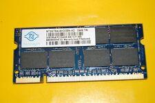 NANYA 2GB DDR2 RAM ARBEITSSPEICHER,2RX8 PC2-6400S-666-13.1 J. GEWÄHRLEIST.