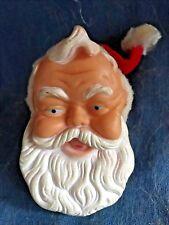 Vintage 1963 Vinyl Santa Claus Night Light Nite Lite 3-D Figural Christmas Works