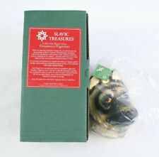 Slavic Treasures German Shepherd Christmas Ornament Collectible Blown Glass New
