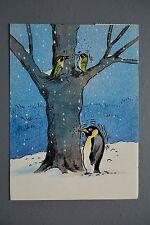 R&L Postcard: Modern, Athena Woodpecker Penguin 9700
