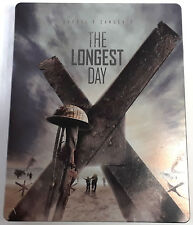 THE LONGEST DAY Blu-Ray Flawed STEELBOOK Case 1962 Film Darryl F. Zanuck D-Day