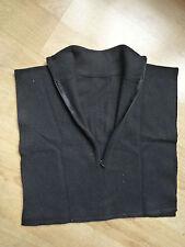 Mode Femme Top, cachemire, Madame L'ivère, noir, sans manches, taille M-L, fermeture zippée