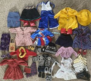 Vintage American Girl Doll Huge Clothes Lot Original Retired Clean Pleasant Co.