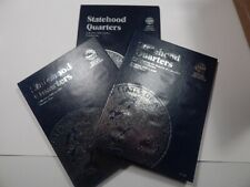Whitman Folders / Albums 1, 2, and 3 for Statehood Quarters P and D