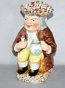 LARGE ANTIQUE VICTORIAN STAFFORDSHIRE TOBY JUG