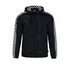 Men's Hooded Lightweight Windbreaker Zip up Outdoor Jacket Black size M #11