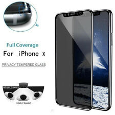Anti-Spy 9H Tempered Glass Film Protector Screen Full Coverage Film For iPhone X