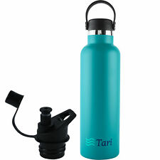 TARI Stainless Steel Bottle Wide Mouth Leakproof Flex Cap Insulated 25 Oz - Teal