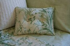 NEW Custom Ralph Lauren Grand Isle Green Leaf Print Pillow 2 Button