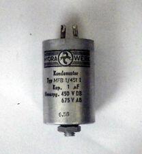 Condensatore non polarizzato 1uF 450 V lavoro
