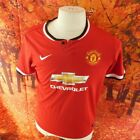 Manchester United Football Club 2014 red Nike home Shirt UK boy's age 13, age 15