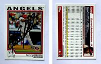 Garret Anderson Signed 2004 Topps #430 Card Anaheim Angels Auto Autograph