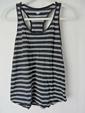 Old Navy Racer Back Tank Top Lot of 2 Blue Wht & Blk Wht Striped Size M #7926