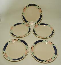 Vtg Corning Corelle TULIP ACCENTS Lot 5 DINNER PLATES Dinnerware Set Flower  USA