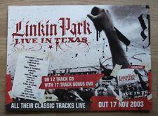 LINKIN PARK - LIVE IN TEXAS - 2003 - MUSIC PRESS ADVERT 28 X 21 CM