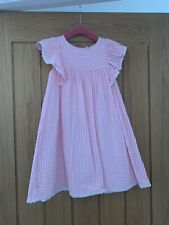 Marks And Spencer Age 4-5 Years Pink And White Striped Dress