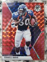 2020 Panini Mosaic #68 Terrell Davis Red Prizm Denver Broncos NFL