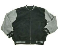 Tri Mountain Jacket Size S - M Loose Fit Fleece Full Zip Black Gray Oversized