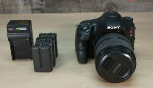 Sony Alpha SLT-A65 24.3MP Digital SLR Camera - Black (Kit w/ SAL18135)