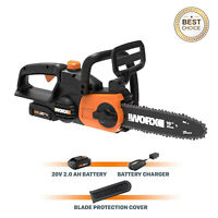 Cordless Chainsaw with Auto-Tension includes The Battery and Charger, Worx WG322