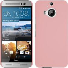 Hardcase for HTC One M9 Plus rubberized pink Cover + protective foils