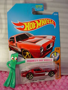 '73 PONTIAC FIREBIRD #123✰Kmart Exclusive red;gold✰2016 Hot Wheels Muscle✰Case Q