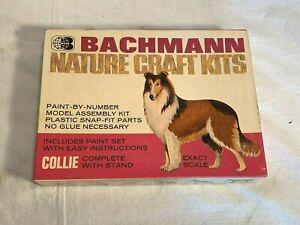 "Vintage BACHMANN Nature Craft Kits plastic 5"" MODEL KIT Dog COLLIE Lassie"