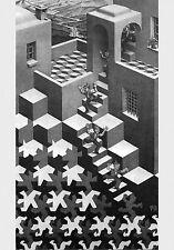 Escher # 02 cm 35x50 Poster Stampa Grafica Printing Digital Fine Art papiarte