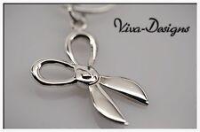 Cute Miniature Stylish Scissors 925 Sterling Silver Charm