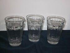 New ListingLongaberger Beverageware 8 oz. Tumbler Juice Glass Set of 3 Woven Traditions Usa