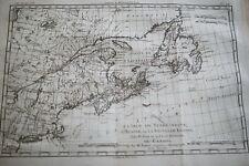 CARTE ANCIENNE TERRE NEUVE ACADIE NOUVELLE ECOSSE CANADA BONNE 1788 (R1192) MAP