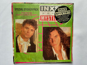 "INXS – Mystify  Ltd. Edt. 7"" vinyl Sticker Pack & Postcard UK single see desc."