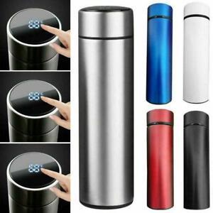 Steel Insulated Water Bottle Travel Mug Tea Coffee Vacuum Cup M2B9