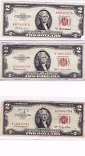 1953 or 1963 $2 Red Seal Note u get one circulated, in a new currency protector