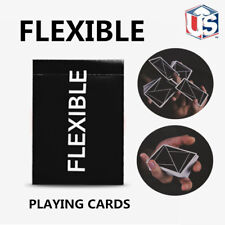FLEXIBLE Playing Cards Black Deck USPCC Cardistry Poker Magic Tricks Sealed