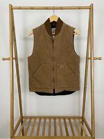 Carhartt Men's Arctic Quilted Lined Brown Sandstone Vest V02BRN Size S EUC