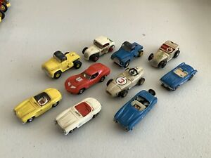 Vintage Lot Of 10 Slot Cars & Trucks Various Brands
