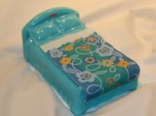 2005 Fisher Price My First Doll House Blue Bed Toy Replacment Part Play Fun