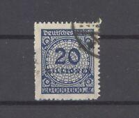 Dt. Reich Mi.Nr. 319 B, 20 Mio. Freimarke 1923 gestempelt, geprüft Infla (29765)