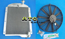 3 Rows Aluminum Radiator for Chevy Pickup Trucks 1941 42 43 44 45 1946 + Fan